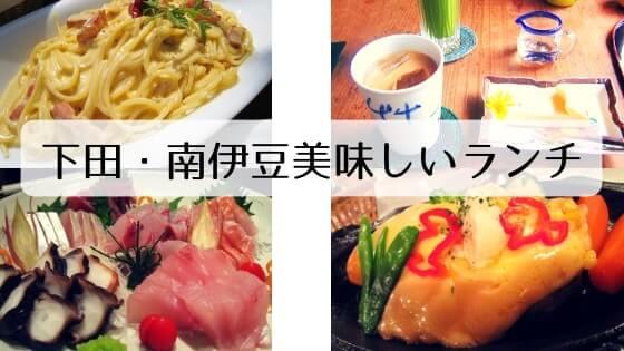 下田・南伊豆の美味しいランチの文字と写真