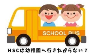 HSCは幼稚園へ行きたがらない原因と今日から使える3つの対策